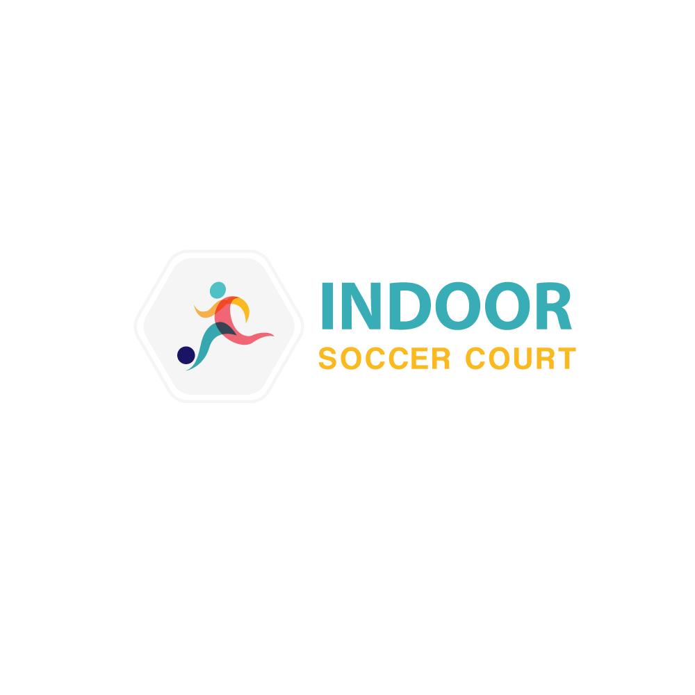 Indoor Soccer Court Logo Design